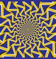 optical blue arrows revolve circularly vector image vector image