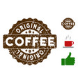 original badge stamp with grungy effect vector image