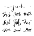 Personal name Jacob vector image vector image