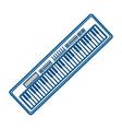 piano keyboard music technology vector image vector image