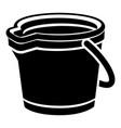 plastic bucket icon simple style vector image vector image