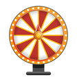 red white wheel fortune icon cartoon style vector image