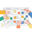 scrum task board - agile vector image vector image