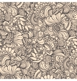 Seamless abstract waves pattern floral backgroun vector image vector image