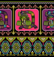 seamless aztec pattern mexican ornamental vector image vector image
