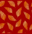 seamless pattern golden palm leaves vector image vector image