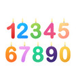 set happy birthday candle numbers stock vector image vector image