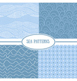 set sea seamless patterns tiling for abstract vector image