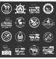 set seafood labels and butcher shop labels vector image vector image