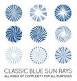 set sunburst rays sun in trendy classic vector image vector image