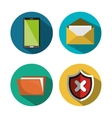 set technology security icons design vector image vector image