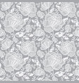 silver grey decorative roses and leaves vector image vector image