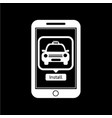 smart phone mobile car taxi application icon vector image