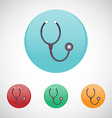 Stethoscope icon set vector image vector image