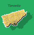 sticker color map of toronto canada city plan of vector image vector image