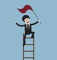 success businessman on ladder vector image
