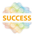 success - guilloche rosette with text on white vector image vector image
