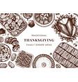 thanksgiving day dinner menu design roasted vector image vector image