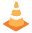 traffic cone flat icon vector image vector image