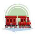 train riding cartoon vector image