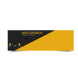 Web banner yellow and black background imag vector image