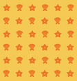 yellow color pattern of shells and starfish vector image vector image