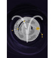 zodiac aries sign a4 print poster with vector image vector image
