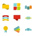 Badge icons set flat style vector image