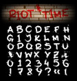 grunge brush hand drawn alphabet vector image