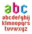3D alphabet vector image vector image