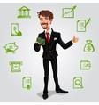 3d businessman vector image