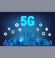 5g wireless internet wi-fi connection vector image vector image