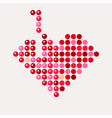 abstract mosaic heart for valentines day tetris vector image vector image