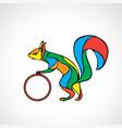 abstract squirrel color wavy vector image vector image