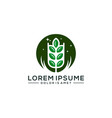 agriculture logo template vector image vector image