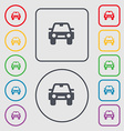 Auto icon sign symbol on the Round and square vector image vector image