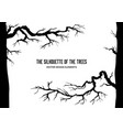 autumn branches frame vector image