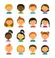 avatarscartoon characters style flat vector image vector image