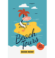 Beach Tour Promotional Sign vector image