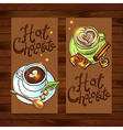 beautiful banners hot chocolate for your desing vector image vector image