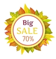 Big Autumn Sale Concept in Flat Design vector image