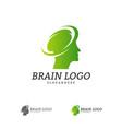 brain head logo template man head people symbols vector image vector image