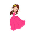 bride dancing and smiling bridesmade partying vector image