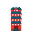 building temple japanese icon vector image vector image