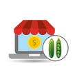 buying online peas icon vector image vector image