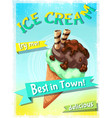 cartoon colorful ice cream advertising poster vector image vector image