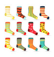 Child socks icons big set in flat style