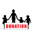 children silhouette with donation transparent art