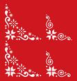 christmas corner set - scandinavian vector image