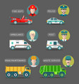city service infographics in flat style vector image